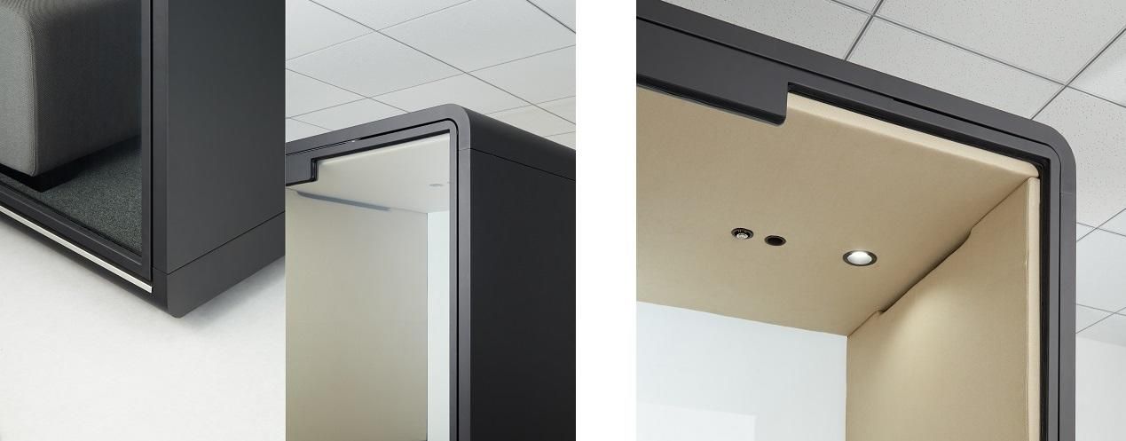 (左から)ガラス面を最大化させたフレーム、人感センサー付き照明